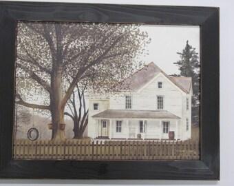 Billy Jacobs,Farm House Wall Decor,Country Farm House,Grandma's House,Tire Swing,Distresed Handmade Frame,181/2x141/2