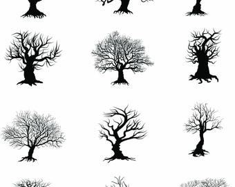 Buy 3 get one free. 20 x Spooky Tree and Branch Brushes for Photoshop, High Quality ABR File Brushes, Instant Download.