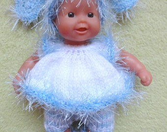 """Hand Knitted Dolls Clothes for 8""""  OOAK  Doll (# 49)"""