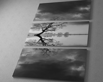 New Beginning Reflect by Moises Levy Gallery Wrapped Canvas Triptych Print