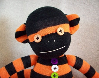 A Sock Monkey for Halloween- Draco