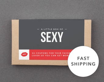 """Gift Basket Stuffer for Him, Her, Man, Woman, Boyfriend, Girlfriend, Husband, Wife. Funny, Romantic, Naughty Gift. """"Sex Coupons"""" (L2SEX)"""