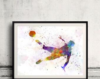 man soccer football player flying kicking 05 - SKU 0889