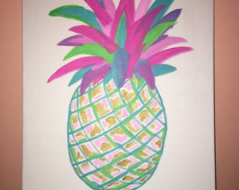Colorful Pineapple Painting