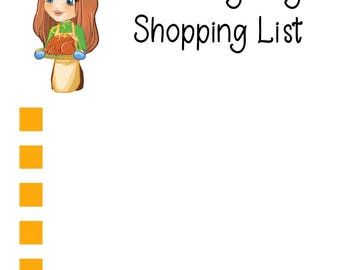 Thanksgiving Shopping List Sticker Sheet
