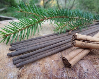 Pine & Cinnamon Incense Sticks  | Ultimate Grade | 100% Natural Incense | Traditional Indian Incense | Hand Rolled With Essential Oils