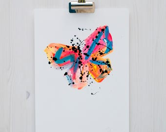 Butterfly Painting // Limited Edition 17 of 50 // Original Painting // Abstract Art // Abstract Painting // Home Decor // Wall Art