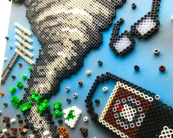 A Serious Man Perler Bead Pixel Pop Art