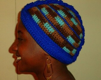 Royalty with Earth, Crochet African Mohawk Headwrap