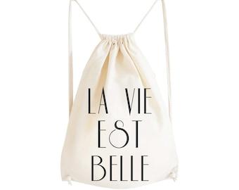 Gym Bag La Vie Est Belle