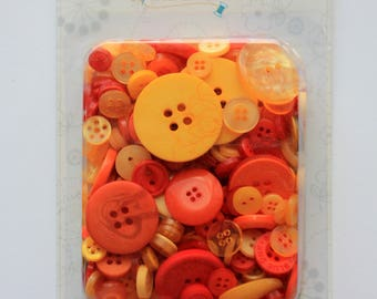 KimberBell Orange and Yellow Button Collection