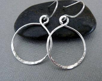 Sterling Silver Hoops, Nickel Free Earrings, Hoop Earrings for Women, Sterling Silver Drop Earrings, 925 Jewelry, Nickel Free Jewelry