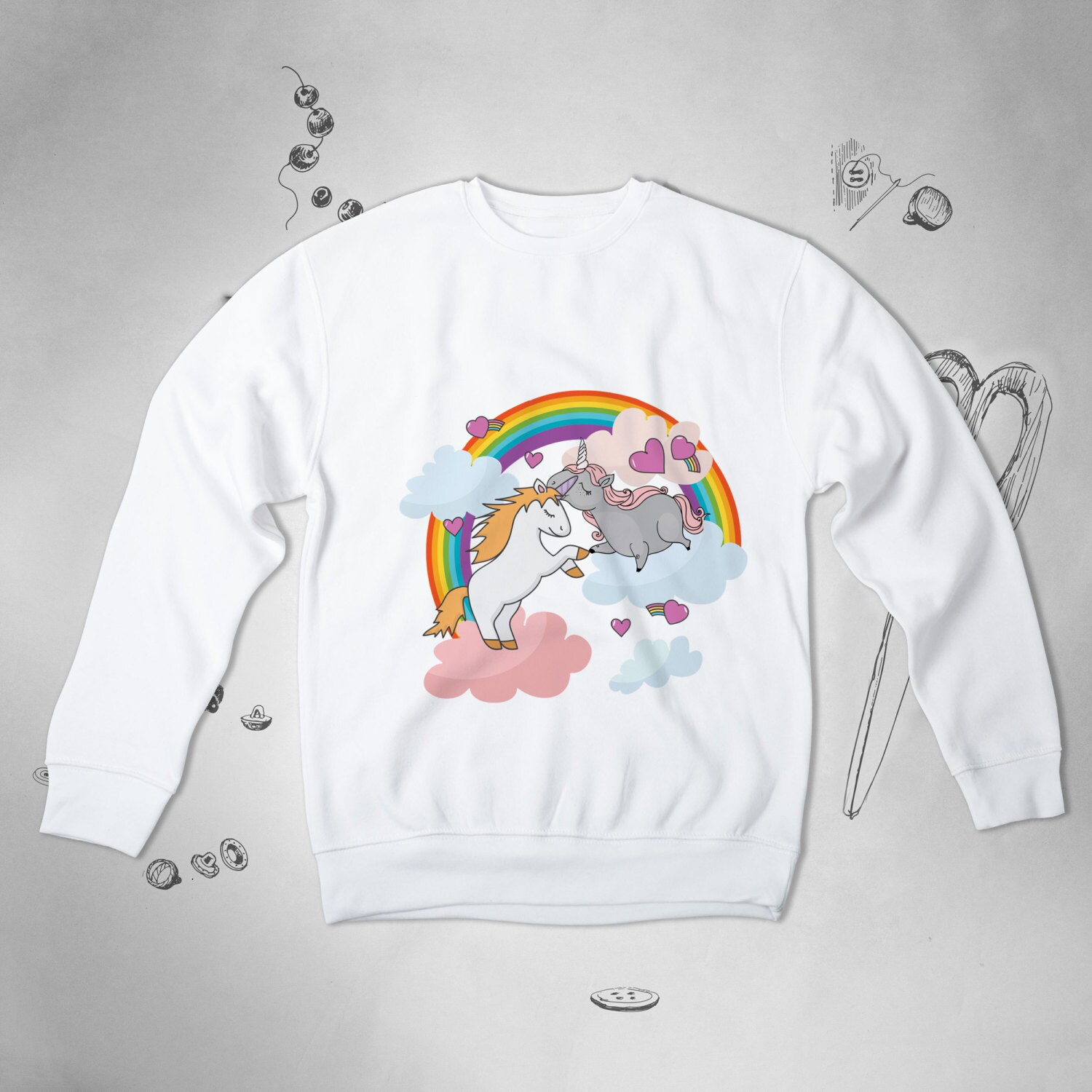 Preferenza Unicorn Sweatshirt Tumblr Sweater For Woman Sweatshirt Cute UO62