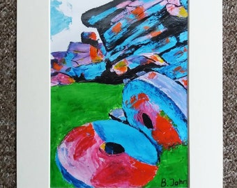 Limited edition - Stanage Millstones. Print of an original painting by Bryan John