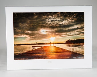 "Serenity Sunset Photography Card folded 5""x7"" blank inside"