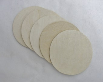 "Wooden 3 inch Circles, wooden disc, wood disk 3"" x 1/8"" thick unfinished DIY"