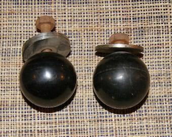 """Set of 2 """"balls"""" old door drawer handles small cupboard Cabinet"""