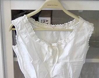 Vintage Camisole Edwardian Lingerie Cotton Camisole Top