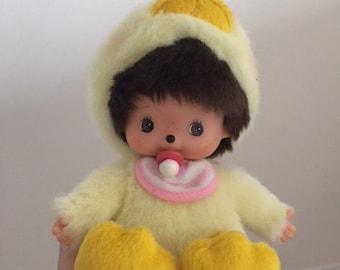 Vintage Monchichi Baby Duck Doll