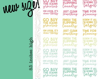 Weekly Task Stickers | To Do List Phrase Planner Stickers (#023)