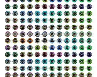 Printable Eye Chips 10 mm for Middie Blythe