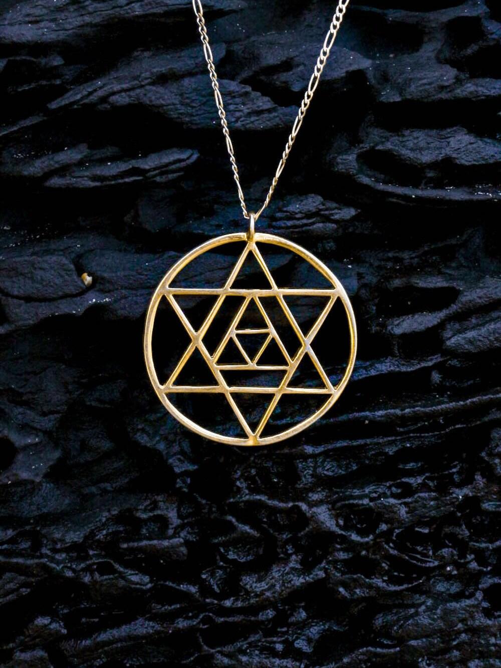 14k gold merkaba pendant merkaba necklace merkabah star zoom aloadofball Gallery