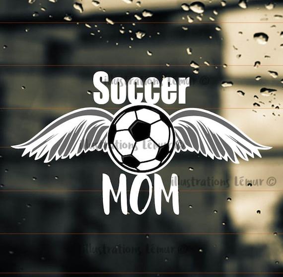 autocollant pare brise auto soccer mom bord joueur joueuse. Black Bedroom Furniture Sets. Home Design Ideas