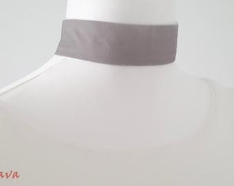 Choker collar necklace white gold Choker Velvet