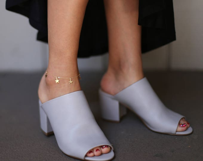 Dangle Star Anklet // Ankle Bracelet // Thin Simple Anklet // Summer Beach Anklet