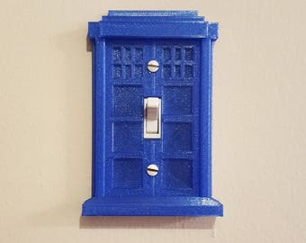 Doctor Who Tardis Inspired Light Switch Plate