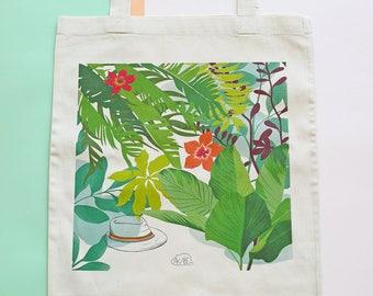 La Sieste / The Nap : organic cotton printed tote bag