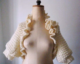 Crochet Bolero Pattern Crochet Pattern Shrug Bolero Pattern with Crochet Flower 215