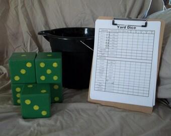Yard Dice Yardzee  (Yahtzee) with bucket custom colors