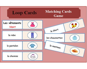 Greeting cards in frenchprimary french conversation french learning cards clothes loop lesson plans kids activities printable activity m4hsunfo