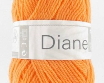 Yarn baby DIANE Tangerine No. 174 white horse