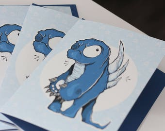 GREETING card - Monster 4 (2018 collection)