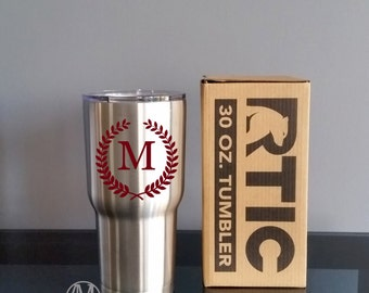 Stainless Steel Tumbler, RTIC Tumbler cup, Personalized tumbler cups, Monogram tumbler, 30 oz tumbler, personalized gifts,