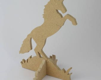 Unicorn wooden decorating yourself, decorative object