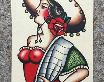 Spanish Girl Print