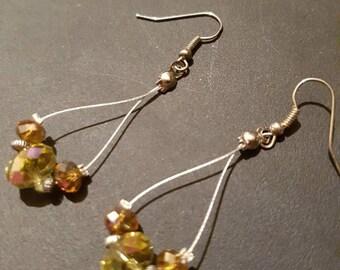 Austrian crystal dangle drop earrings. Special occasion earrings. Great gift idea