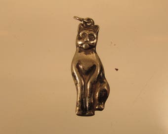 Cat  Charm / Pendant  Full Figure  @ A Village Coin Bullion 12/5/8 B