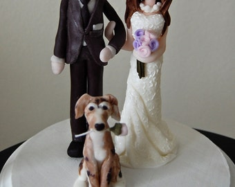 Customized Wedding Cake Topper with Pet