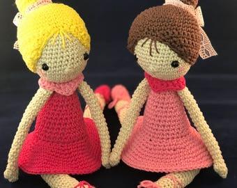 READY TO SHIP - Bella, the ballerina doll - amigurumi / toy / gift