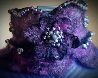 Purple floral collar