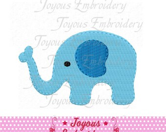 Instant Download Mini Elephant Filled Stitches Machine Embroidery Design NO:2179