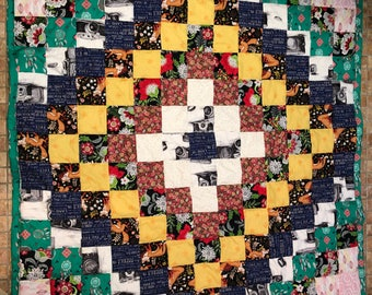 Multicolored Pattern Quilt Throw