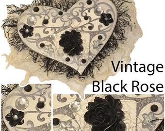 Vintage Black Rose