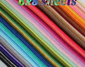 PURE Merino Wool Felt 7 6x8 Sheets