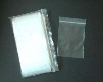 100 3 x 4 Inch Clear Zip Lock Bags - 29-4