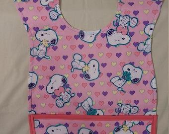 Snoopy with Heart Bib